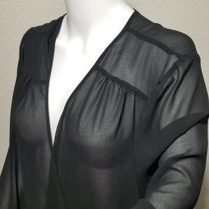 Torrid Black Sheer Blouse Size 4